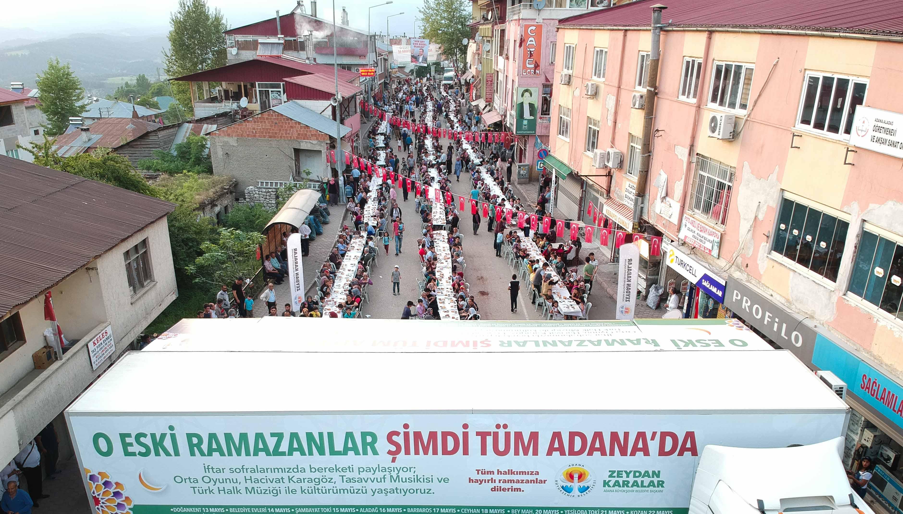 Aladağ'da 3 bin kişilik iftar programı