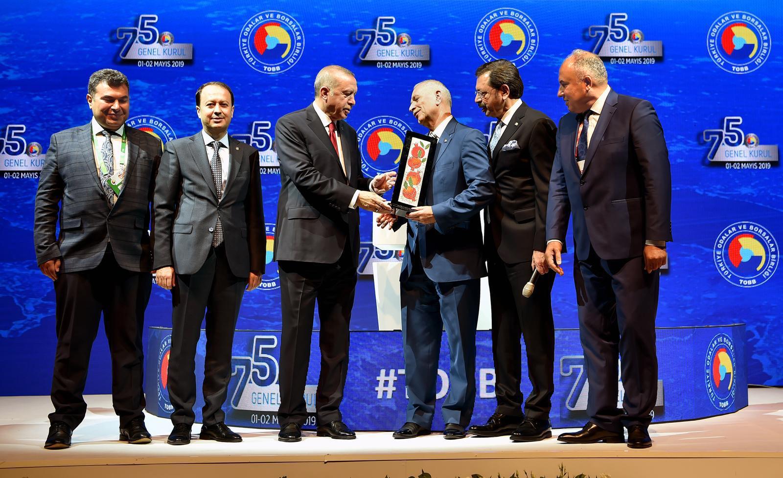 Cumhurbaşkanı Erdoğan'dan ATB'ye ödül