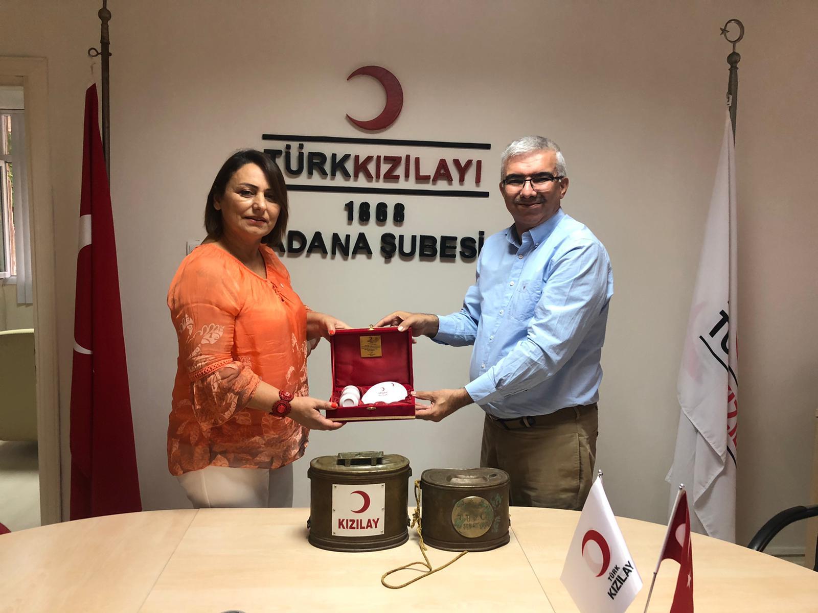 Adana Milletvekili Şevkin'den Kızılay'a Ziyaret