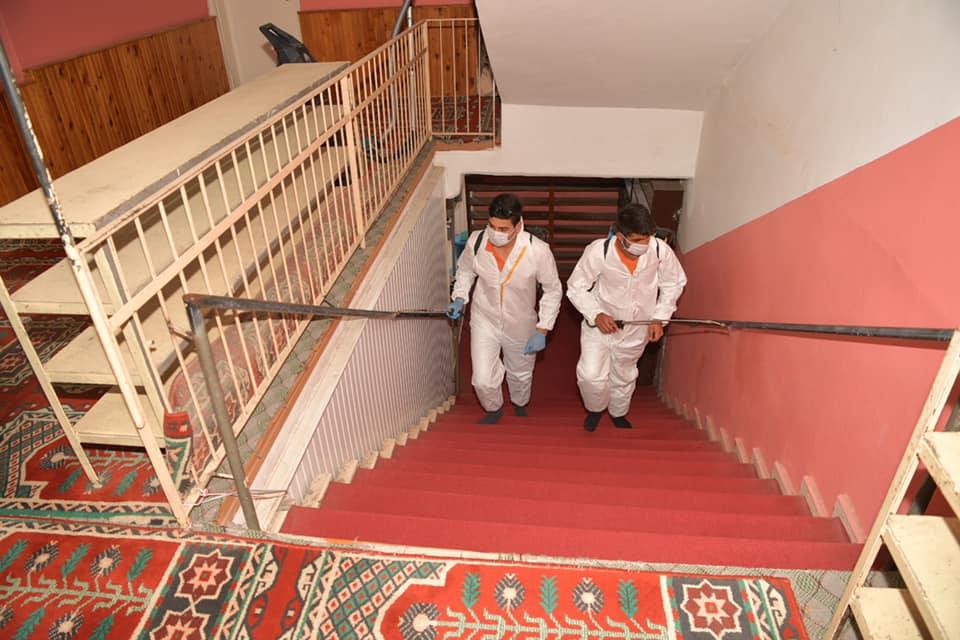 Çukurova'da camiler dezenfekte edildi