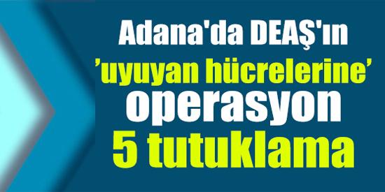 Adana'da DEAŞ'ın 'uyuyan hücrelerine' operasyon: 5 tutuklama