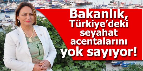 Bakanlık, Türkiye'deki seyahat acentalarını yok sayıyor!