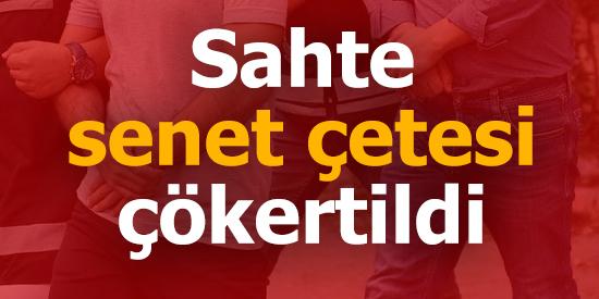 Adana merkezli 6 ilde operasyon.. Sahte senet çetesi çökertildi