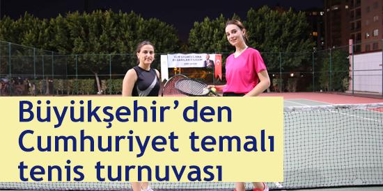 29 Ekim Cumhuriyet KupasıTenis Turnuvası başladı