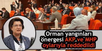 Orman yangınları önergesi AKP ve MHP oylarıyla reddedildi