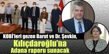 KOBİ'leri gezen Barut ve Dr. Şevkin, Kılıçdaroğlu'na Adana raporu sunacak