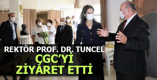 REKTÖR PROF. DR. TUNCEL ÇGC'Yİ ZİYARET ETTİ