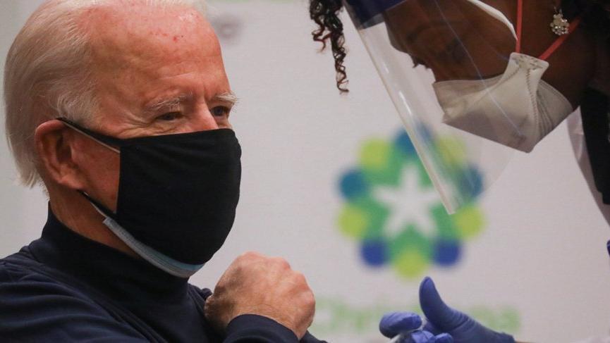 Joe Biden corona virüsü aşısı oldu