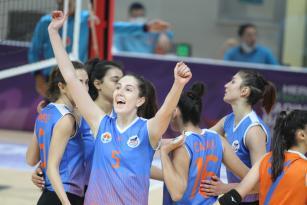 Büyükşehir KadınVoleybol Takımı galibiyet serisini sürdürüyor