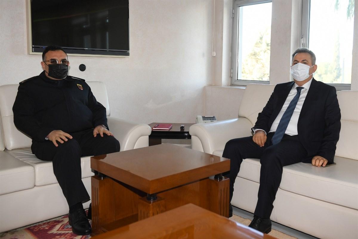 Vali Elban'dan Jandarma Bölge Komutanı Tuğgeneral İbrahim Koyuer'e Ziyaret