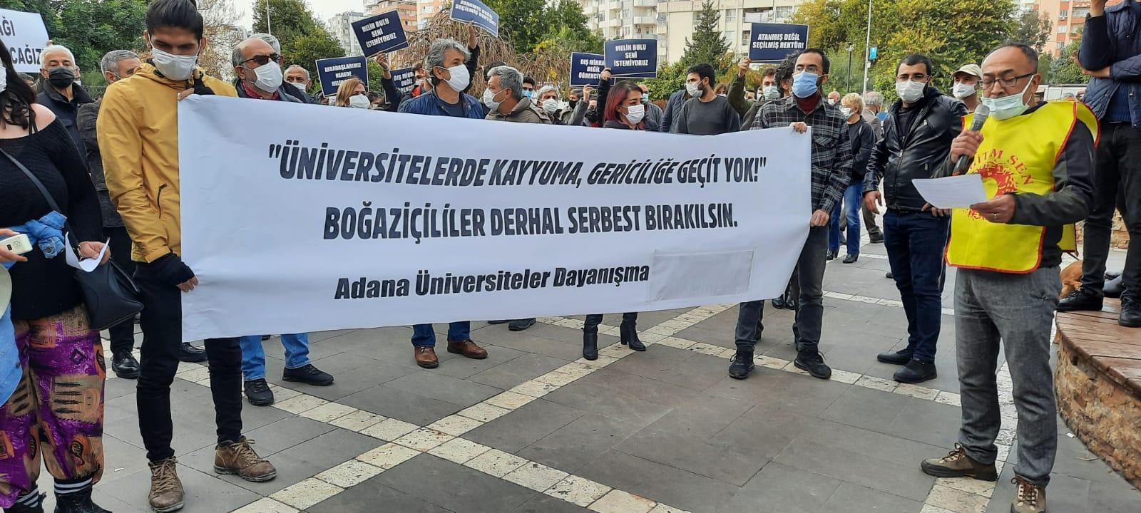Aşağı Bakmıyoruz! Boğaziçi'nden Adana'ya Direnişi Büyütüyoruz!