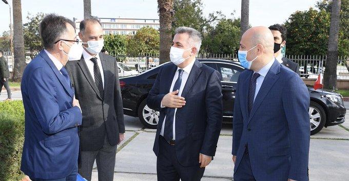 İl Sağlık Müdürü Nacar'dan Vali Elban'a Brifing