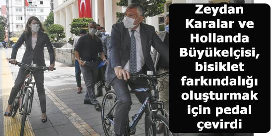Zeydan Karalar ve Hollanda Büyükelçisi, bisiklet farkındalığı oluşturmak için pedal çevirdi