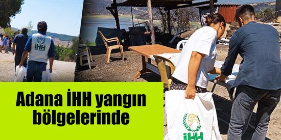 Adana İHH yangın bölgelerinde