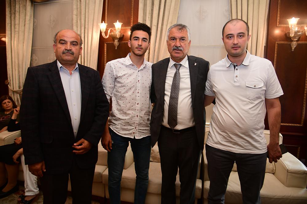 Şehit yakınlarından Başkan Karalar'a ziyaret