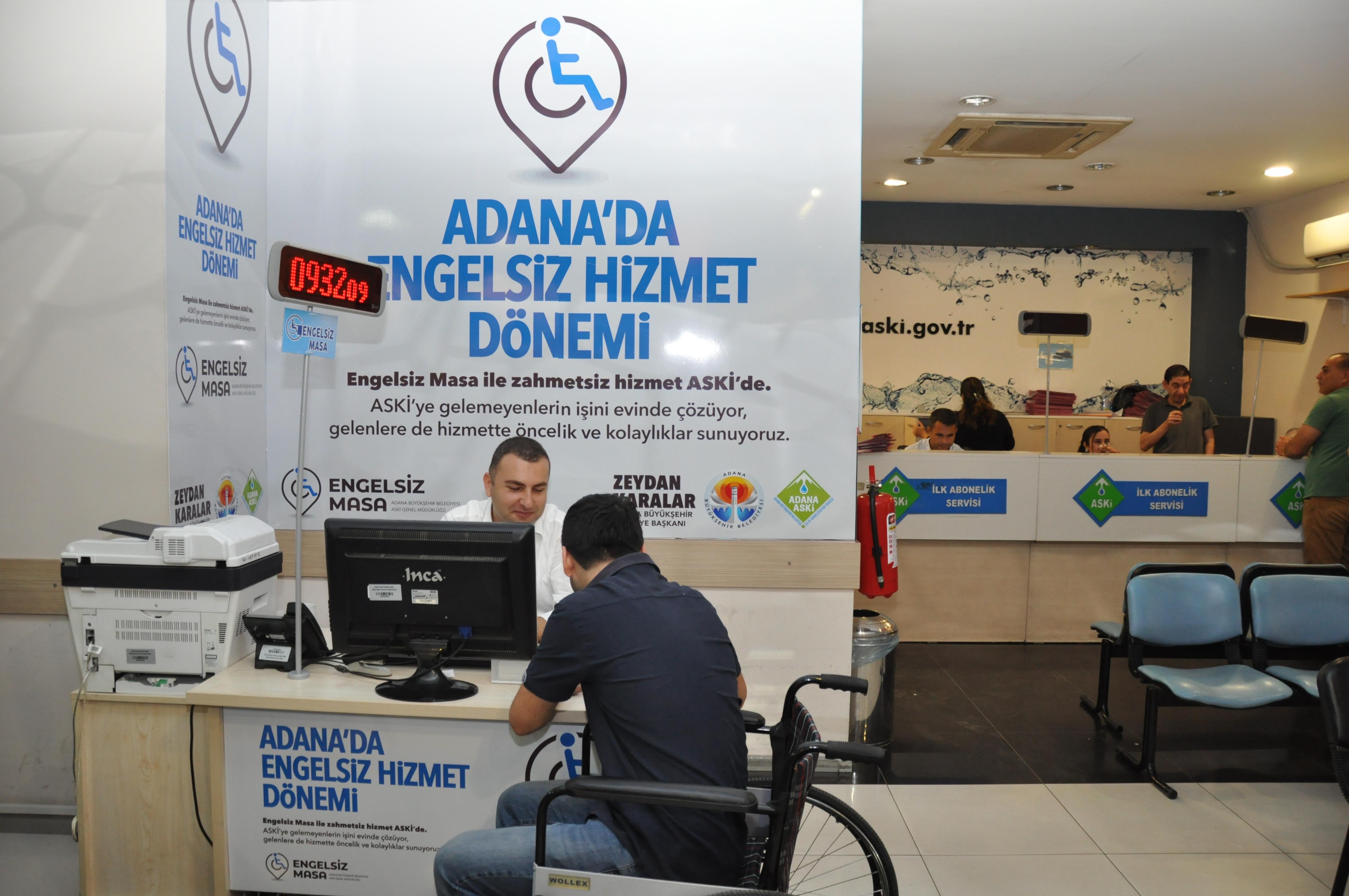 """ASKİ'de """"engelsiz hizmet"""" dönemi"""