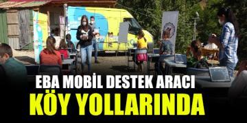 EBA mobil destek aracı köy yollarında
