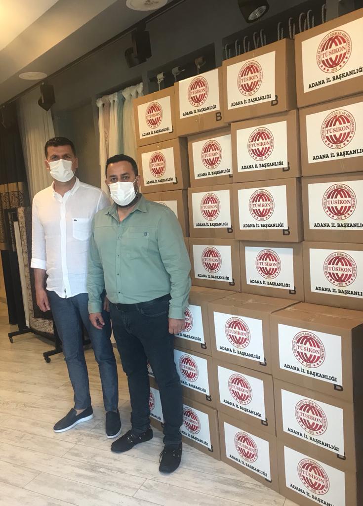 TUSİKON'dan 150 gıda kolisi desteği