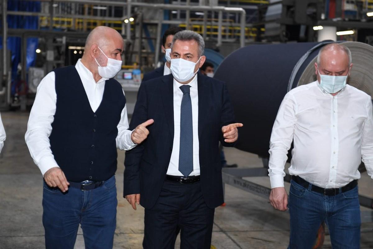 VALİ ELBAN ATLAS DENİM TEKSTİL'İ ZİYARET ETTİ