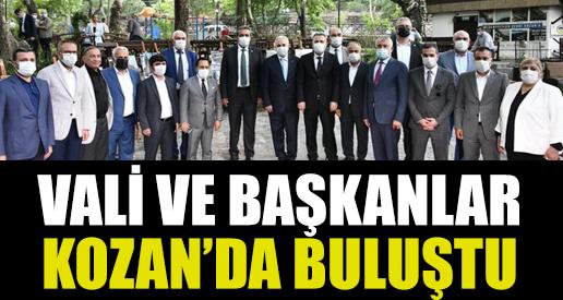 Vali ve Başkanlar Kozan'da Buluştu