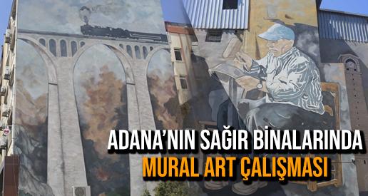 Adana'nın sağır binalarında Mural Art çalışması