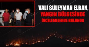 Adana Valisi Süleyman Elban, Kozan'daki yangın bölgesinde incelemelerde bulundu